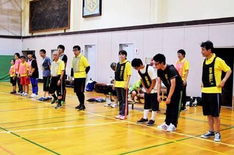 試合開始時の選手整列