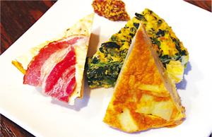 船橋産の小松菜やホウレンソウを使った 「スパニッシュオムレツ」